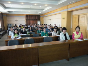 Attendees at the DL presentation at the Tsinghua University, Beijing, China with Prof Dan Wei (front row left)