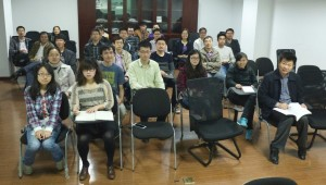 Attendees at the DL at Nanjing University on 9th April 2014 with Prof Xiaoshan Wu
