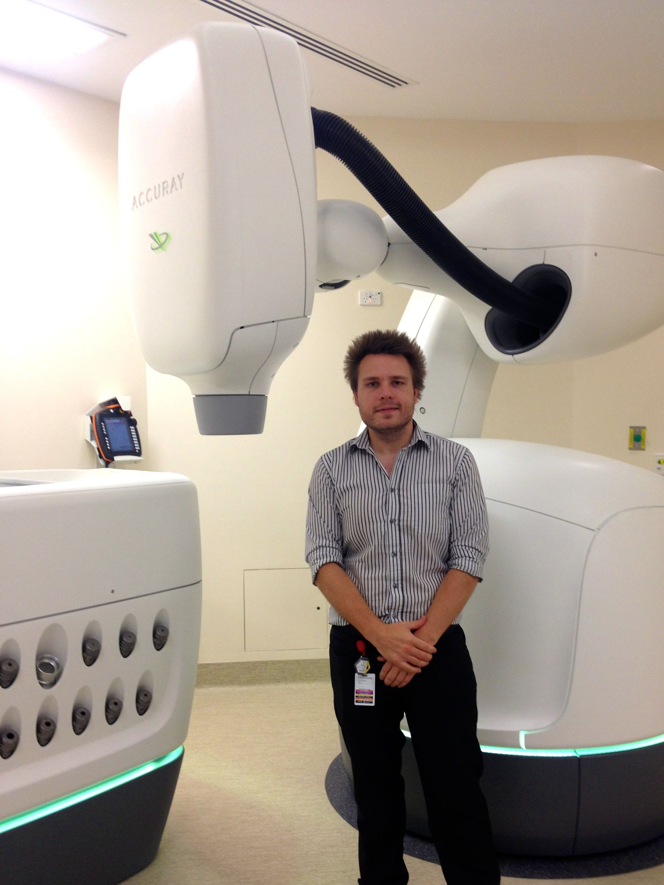 CyberKnife and medical physicist Jonathan Lane