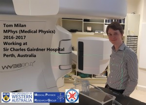 Tom Milan. UWA Medical Physics Graduate. Working @ SCGH (Click on the picture to enlarge)
