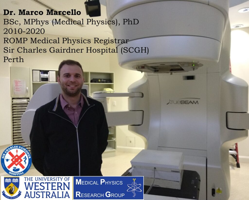 Dr. Marco Marcello, UWA Medical Physics Graduate